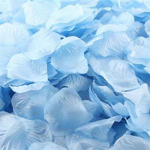 Victoria 1000pcs Sky Blue Rose Flower Petals Wedding Table ...