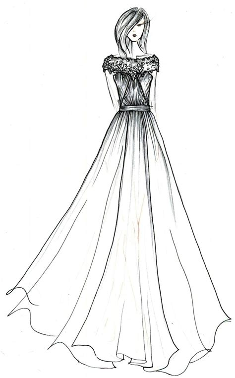 simple fashion design sketches  dresses shopping guide