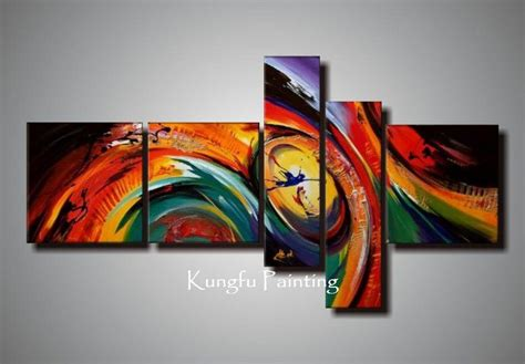 hand painted unframed abstract  panel canvas