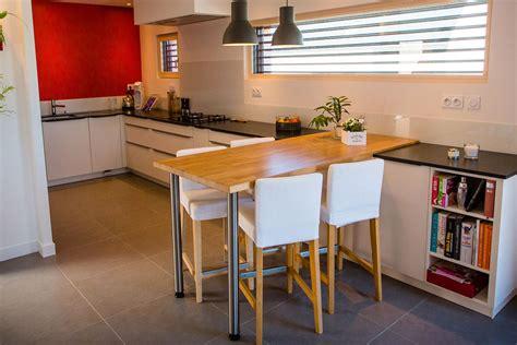 table haute de cuisine sur mesure avec plateau en ch 234 ne