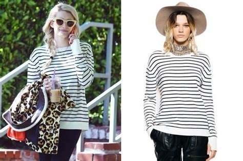 Found: Emma Roberts' Striped Sweater - Shop Your Favorite ...