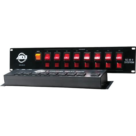 american dj light controller american dj sc 8 analog lighting controller system sc8