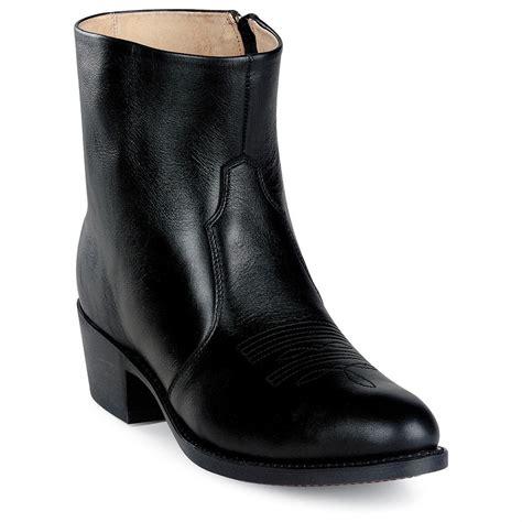 Men Durango Gambler Side Zip Boots Black