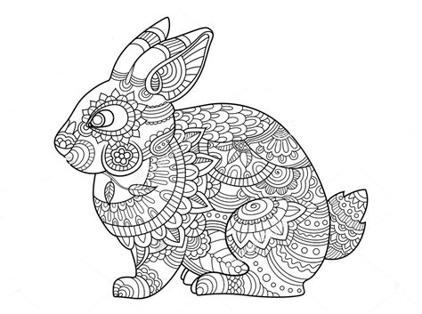 Rabbit Mandala Coloring Pages To Print