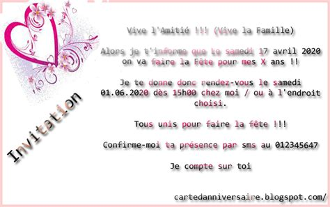 Image Carte Invitation Anniversaire Adulte