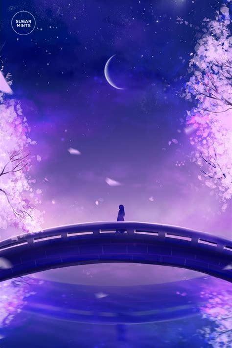 moon flower by sugarmints on deviantart beautiful anime anime scenery