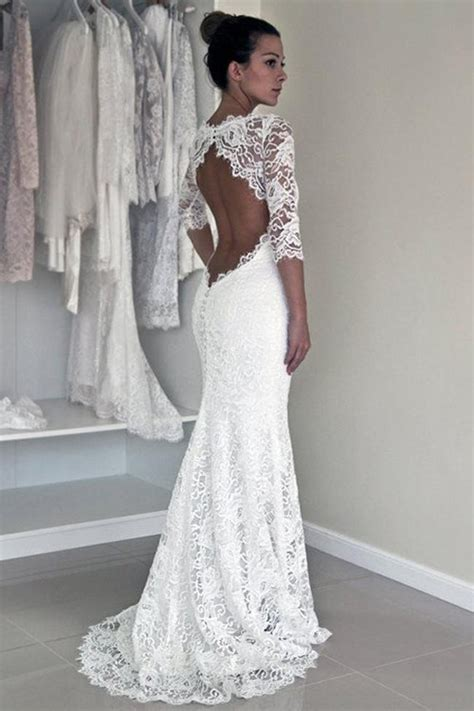 Lace Wedding Dressesopen Back Wedding By Miss Zhu Bridal