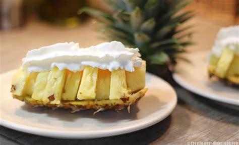 dessert avec de la chantilly ananas et sa chantilly sans sucre au citron
