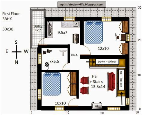 30x30 2 bedroom floor plans my indian villa 33 r26 3bhk duplex in 30x30