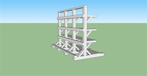 stand  wood rack  shelves design