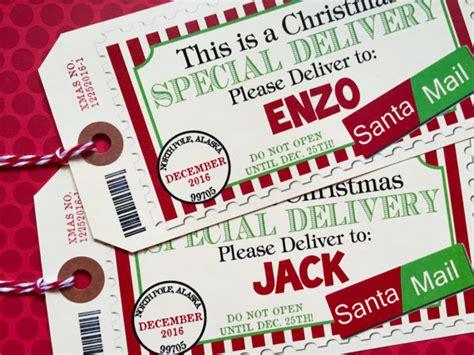 christmas gift tags christmas air mailstsanta air mail