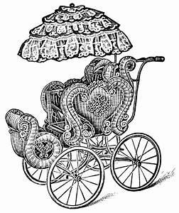 Vintage Baby Carriage ~ Free Clip Art | Old Design Shop Blog