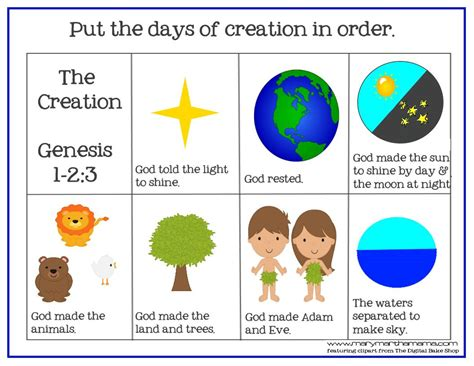 creation bible story for preschoolers activity pack 826 | creation prek pack ordering 2
