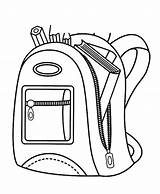 Backpack Coloring Pencil Pages Contain Case Inspirational Sheet Paper Utilising Button sketch template