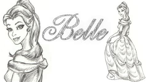Drawing Belle Of Disney Beauty And The Beast
