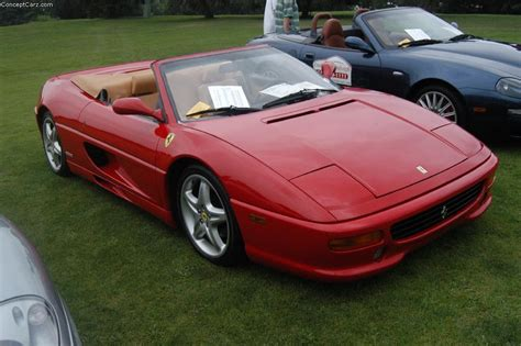 The 1997 ferrari f355 measures 74.80 inches in width, 167.30 inches in length, and has a wheelbase of 96.50 inches. 1997 Ferrari F355 - conceptcarz.com