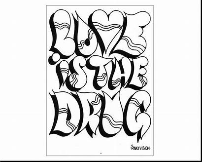Bubble Letters Coloring Pages Names Printable Getcolorings