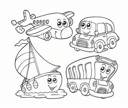Transportation Coloring Pages Kindergarten Preschool Preschoolers Water