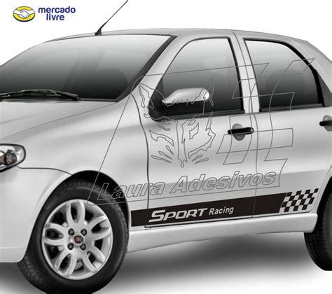 adesivo sport racing palio  portas kit faixa lateral