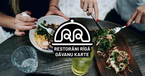 Dāvanu karte ''Restorāni Rīgā'' - labākā dāvana gardēdim ...