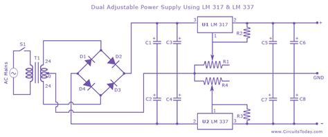 Dual Variable Power Supply With