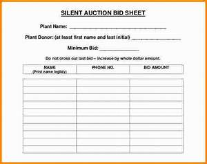 8 silent auction bid sheet cashier resume With bid sheets for silent auction template