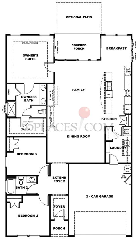 azalea floorplan  sq ft lake walk freedom homes places