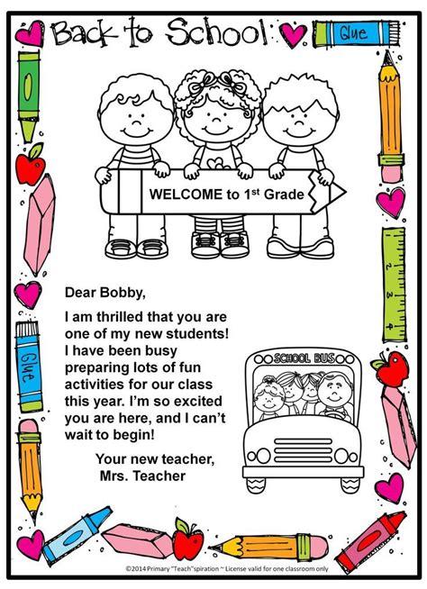 school  letter  postcard editable
