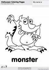 Monster Coloring Halloween Pages Super Flashcards Worksheets Simple Goodbye Kindergarten Learning Resource Friends Songs Printables Song Resources Monkey Crafts Supersimple sketch template