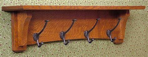 craftsman white quartersawn oak coat rack