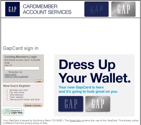 Meanwhile, the gap credit card stands out to be a credit card that gives you the privilege to earn bonus points as you make use of it for purchases. Gap Visa Card - Gap Credit Card Login   Mylogin4.com