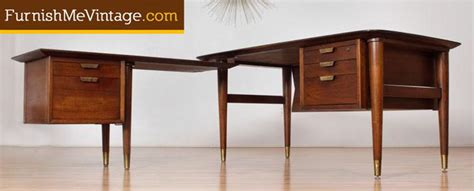 mid century desk l mid century modern l shaped executive desk