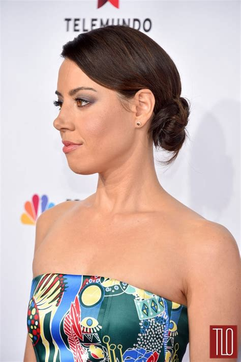 IN or OUT: Aubrey Plaza in Mary Katrantzou at the 2014