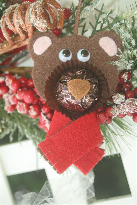 rocher chocolates reindeer teddy polar bear felt