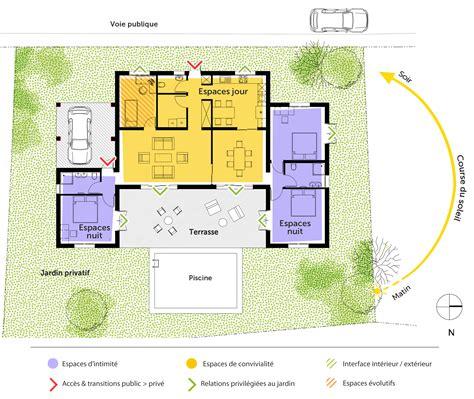 plan de maison 3 chambres plain pied plan maison de plain pied 140 m ooreka
