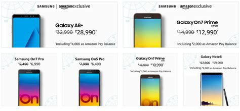 samsung carnival on amazon offers up to rs 8 000 cashback