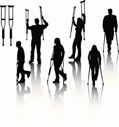 Crutches Illustration Cast Leg Vector Illustrations Clip