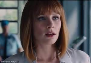 actress in the film jurassic world chris pratt hunts down a hybrid dinosaur in jurassic world