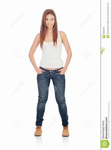Attractive Casual Girl With Jeans Royalty Free Stock Images - Image 34660109