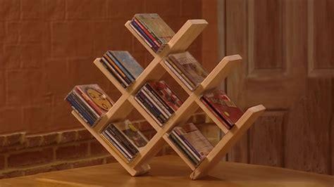build  wooden cd rack carpinteria pinterest