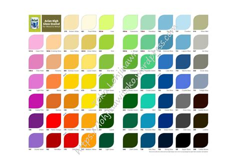 kumpulan warna cat toko lohjinawi