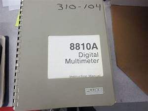 Fluke 8600a Digital Multimeter Instruction Manual 3311d1