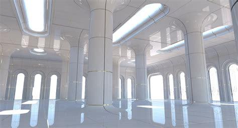 classic futuristic interior scene   model wirecase