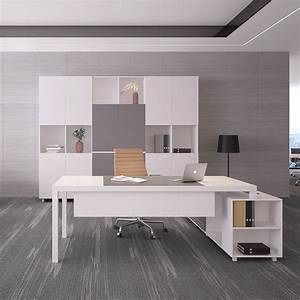 Modern, Office, Furniture, Desk, Executive, Office, Desk, With, Cabinet
