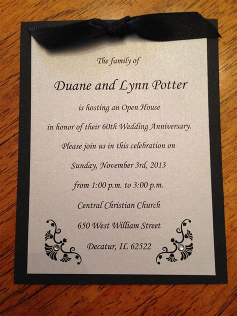 Open House / Anniversary Invitation (recreation of