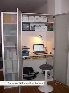 Armoire Bureau Ikea : armoire pax en bureau rangements bureaux pinterest caisson coin couture et bureau ~ Teatrodelosmanantiales.com Idées de Décoration