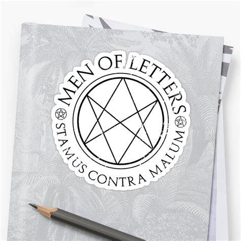 supernatural men  letters sticker  fixedinpost