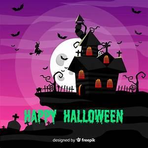 Casa De Halloween De Design Plano