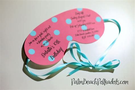 Eye Mask Invitation Template by Sleepover Birthday Invitation Eye Mask And Pillow