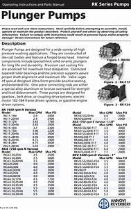 Annovi Reverberi Rk 1450 Rpm N Version Users Manual